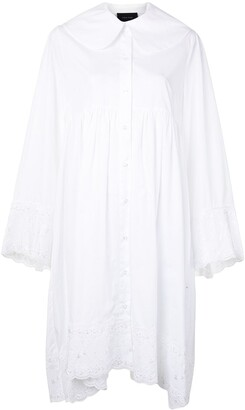 Simone Rocha Lace-Trim Shirt Dress