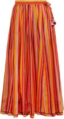 Zimmermann Goldie Draw Flare Skirt