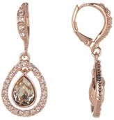 Givenchy Pear-Cut Crystal Orbital Drop Earrings