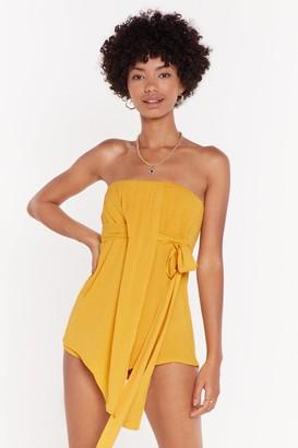 Nasty Gal Womens Love You Like I Love You Bandeau Playsuit - yellow - 8
