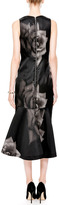 Josh Goot Printed Silk-Gazar V-Neck Dress