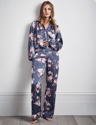 Marks and Spencer Satin Floral Print Pyjama Set