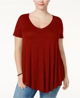 Soprano Trendy Plus Size Swing T-Shirt