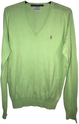 Polo Ralph Lauren Polo ajustA manches longues Green Cotton Knitwear & Sweatshirts