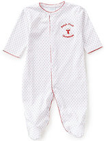 Edgehill Collection Baby Girls Dotted Bear Embroidered My 1st Christmas Coverall