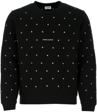 Saint Laurent Logo Eyelet Sweatshirt