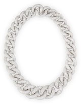 Leo Pizzo 18k White Gold Diamond Chain Link Necklace