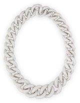 Leo Pizzo 18k White Gold Diamond Chain Link Necklace