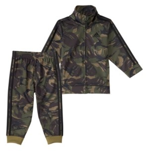 adidas Toddler Boys Action Camouflage Jacket and Jogger Track Pants Set, 2 Piece
