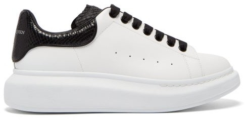 fantastic savings fast delivery shoes for cheap Alexander McQueen Raised-sole Low-top Leather Trainers - Mens ...