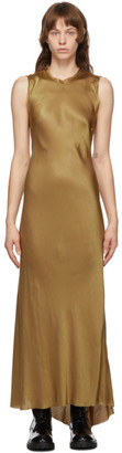 Ann Demeulemeester SSENSE Exclusive Gold Keyhole Dress