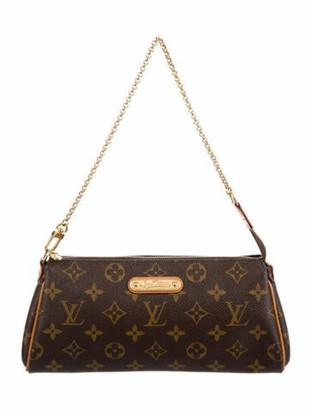Louis Vuitton Monogram Eva Clutch w/Strap Brown