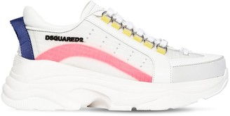 DSQUARED2 40mm Bumpy 551 Leather & Nylon Sneakers