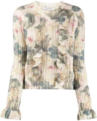 Philosophy di Lorenzo Serafini Floral Ruffle Sweater