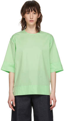 Markoo Green Open-Back Blouse