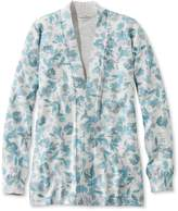 L.L. Bean Premium Supima Cotton Sweater, Open Cardigan Floral