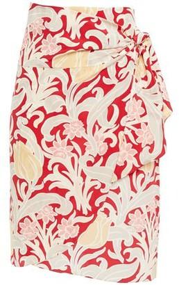 Vanessa Bruno Floral-print Silk Crepe De Chine Wrap Skirt