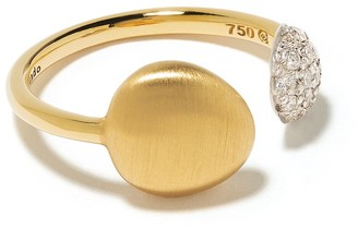 Brumani 18kt yellow and white gold Corcovado diamond ring