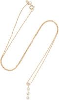 Sarah & Sebastian Quad 14-karat Gold Diamond Necklace
