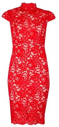 Dorothy Perkins Womens *Tfnc Red Lace Bodycon Dress, Red