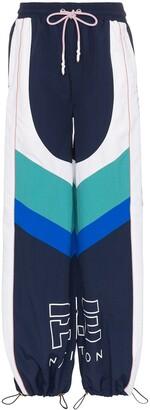 P.E Nation electric eye colour block sweatpants