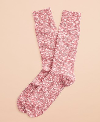 Brooks Brothers Marled Cotton Stretch Crew Socks