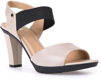 Geox Nubuck Mid-Heel Dress Sandals, Taupe