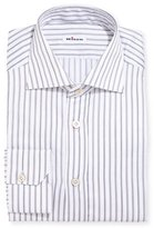 Kiton Multi-Stripe Cotton Dress Shirt, Gray
