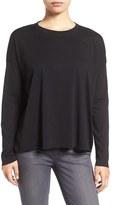 Eileen Fisher Women's Organic Cotton Jersey Easy Crewneck Top