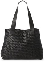 Sondra Roberts Woven Leather Tote