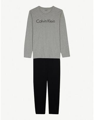 Calvin Klein Logo print cotton pyjamas 8-16 years