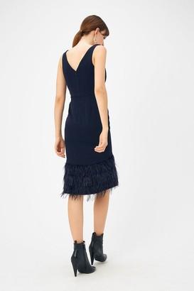 Coast Feather Hem Dress