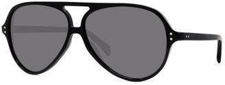 Celine Men's Polarized Double-Bridge Aviator Sunglasses