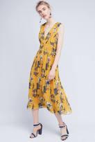Carolina K. Golden Silk Midi Dress