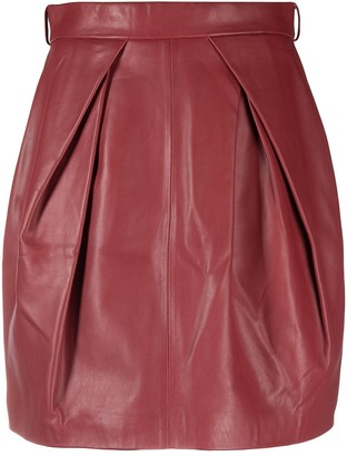 Alberta Ferretti High-Rise Straight-Leg Skirt