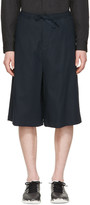 Undecorated Man Navy Drawstring Shorts