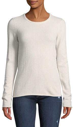 ATM Anthony Thomas Melillo Cashmere Long-Sleeve Crewneck Sweater