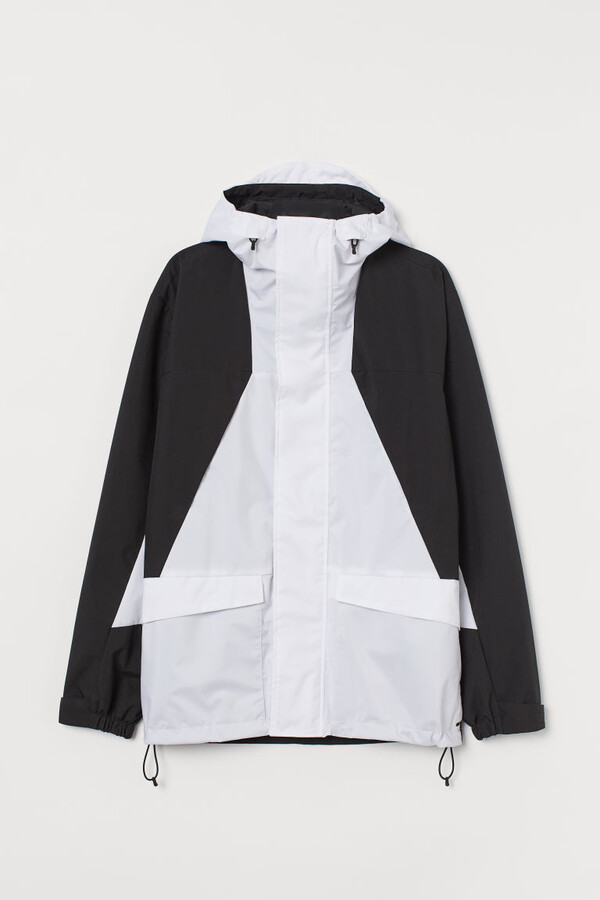 H&M Water-repellent Shell Jacket - White