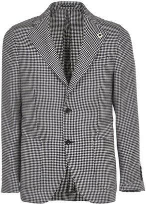 Lardini Blue And Grey Prince Of Wales Jacket