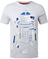 Star Wars Deconstructed R2-d2 T-shirt, Grey