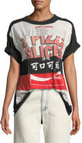 Marc Jacobs Mixed Cola-Pizza Short-Sleeve Cotton T-Shirt
