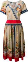 Alberta Ferretti multi printed dress