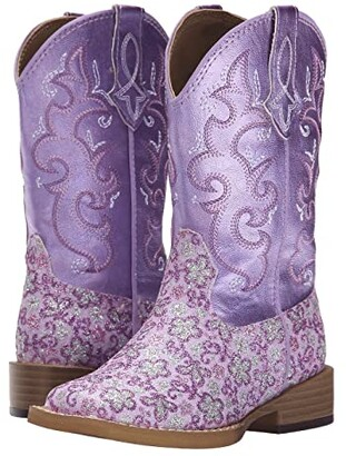 Roper Lavender Square Toe Boot (Toddler/Little Kid) (Purple) Cowboy Boots