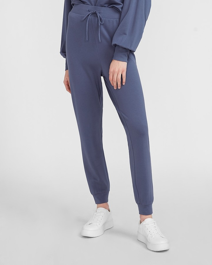 Express Super High Waisted Cozy Drawstring Jogger Pant