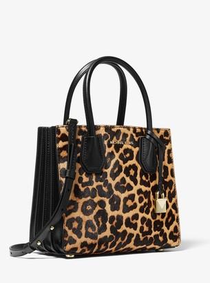 MICHAEL Michael Kors Mercer Medium Leopard Calf Hair Accordion Crossbody Bag