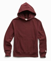 Todd Snyder + Champion Terry Popover Hoodie Sweatshirt in Deep Burgundy