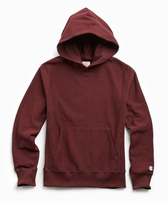 Todd Snyder + Champion Terry Popover Hoodie Sweatshirt in Deep Burgundy