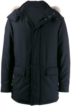 Ermenegildo Zegna Hooded Single-Breasted Coat