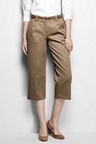 Lands' End Women's Petite Mid Rise Wide Leg Crop Chino Pants-Rich Red