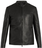 Fendi Patch-pocket Leather Jacket